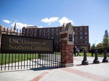 Campus de la USC (Universidad del Sur de California) en Los Ángeles, California, EEUU