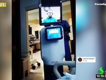 Indignación con los médicos de un hospital por utilizar a un robot para comunicar a un paciente que va a morir