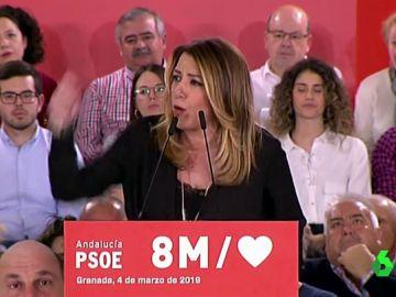 #VídeosManipulados: Así de contundente se muestra Susana Díaz al hablar de las elecciones del 28A