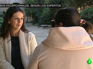 Sara, migrante, tiene 28 años y está embarazada de cinco meses