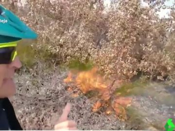 La indignación de Jesús Calleja al encontrarse con varios fuegos provocados en un monte de León
