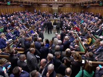 Vista del Parlamento británico en Londres durante la votación de enmiendas