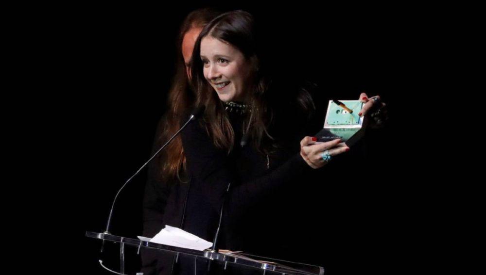 Nina de Morgan, con uno de sus cinco premios