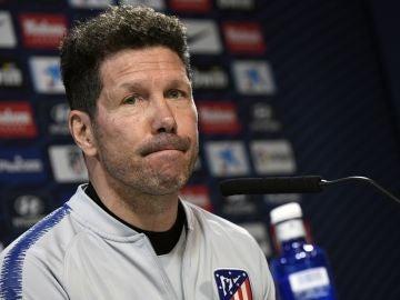 Diego Simeone en rueda de prensa