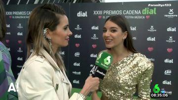 """El grito de Ana Guerra en los Premios Cadena Dial: """"Qué vivan las mujeres"""""""