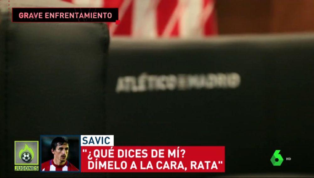 """Tensión entre Savic y el 'profe Ortega' tras caer ante la Juventus: """"Dímelo a la cara, rata"""""""