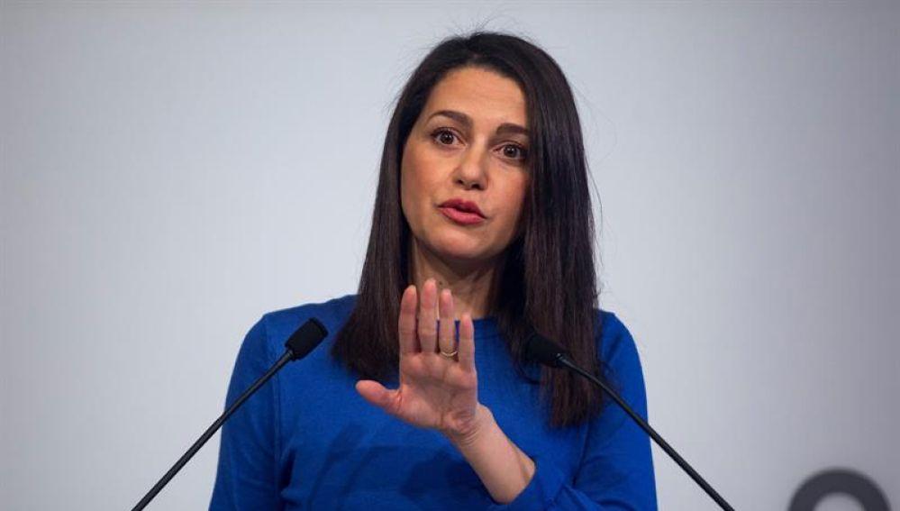 La líder de Cs en Cataluña, Inés Arrimadas