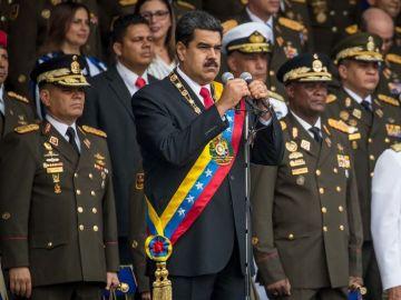 Nicolás Maduro antes del atentado