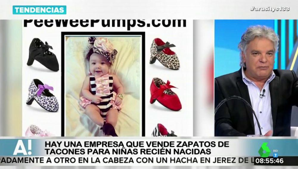 Polémica por una empresa que vende zapatos de tacón para niñas recién nacidas