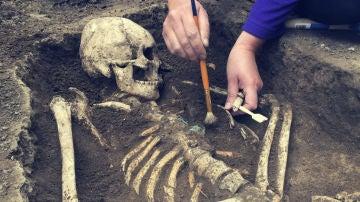Restos de fósiles humanos