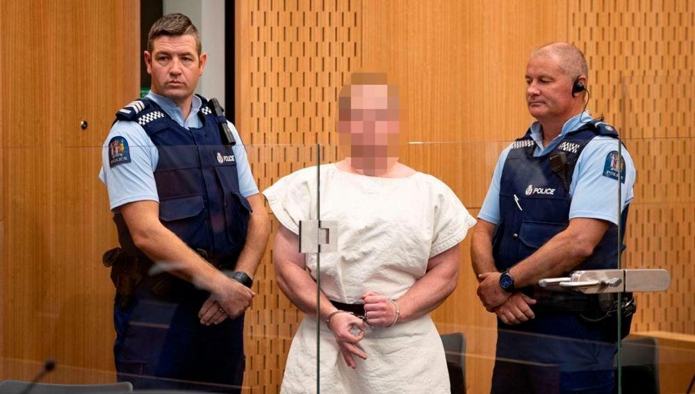 Brenton Harrison Tarrant, acusado de un asesinato durante la matanza en dos mezquitas en Christchurch