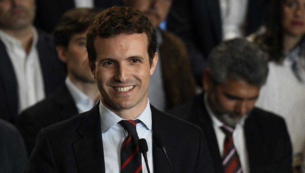 Pablo Casado en la presentación de sus cabeza de lista a las generales en Madrid