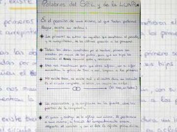 La carta realizada por María Gombau, madre de los menores asesinados