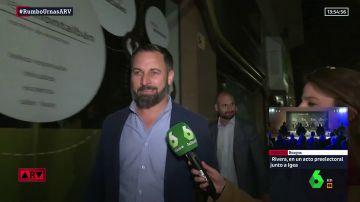 El líder de Vox Santiago Abascal