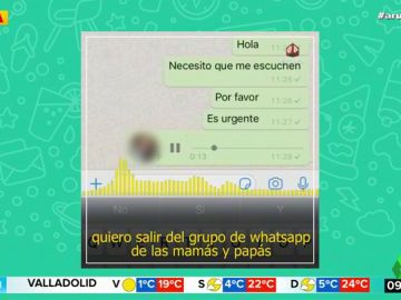 """El sorprendente audio de un padre para abandonar el grupo de WhatsApp del colegio de sus hijos: """"Me tenéis hasta las bolas"""""""