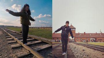 Turistas en el museo de Auschwitz