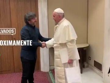 Jordi Évole cara a cara con el papa Francisco, muy pronto en Salvados