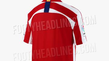 La parte trasera de la posible nueva camiseta del Atlético de Madrid
