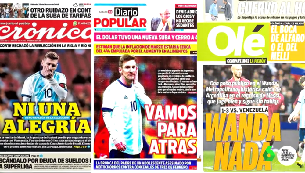 """Críticas a Messi tras la derrota de Argentina ante Venezuela: """"Es solución y problema"""""""
