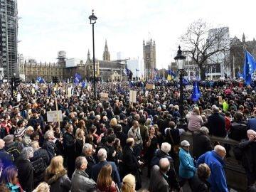 Imagen de la manifestación en Londres para pedir un segundo referéndum