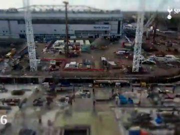 La construcción del nuevo estadio del Tottenham en un espectacular vídeo de dos minutos