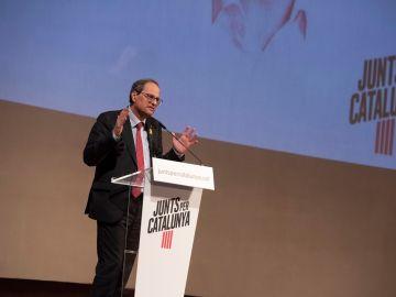Quim Torra en un acto de Junts Per Catalunya