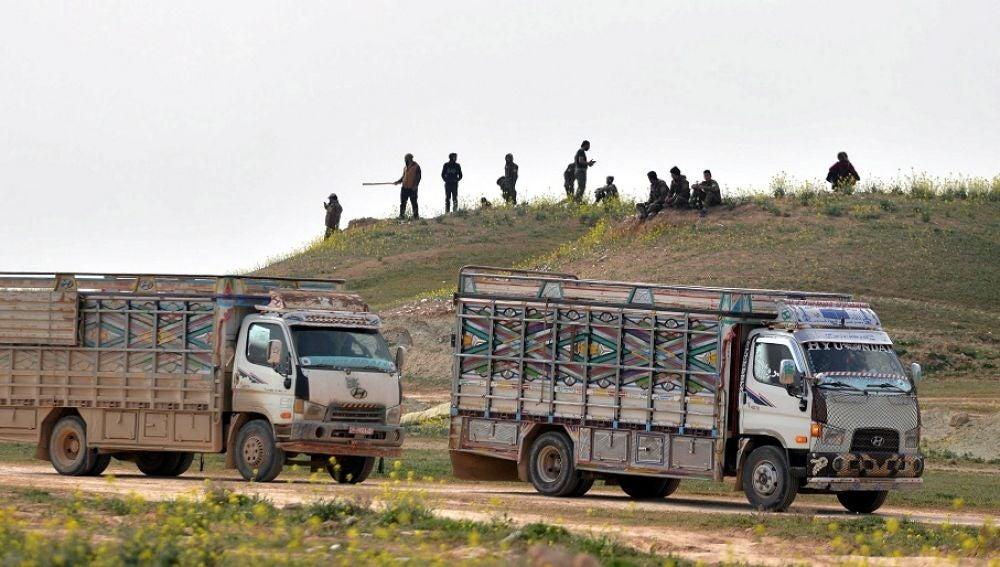 Un comboy cerca de Deir Ezzor, al este de Siria