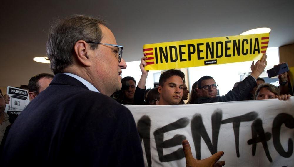Torra con los CDR en Sabadell