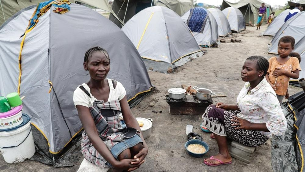 Campamento en Mozambique por el ciclón 'Idai'