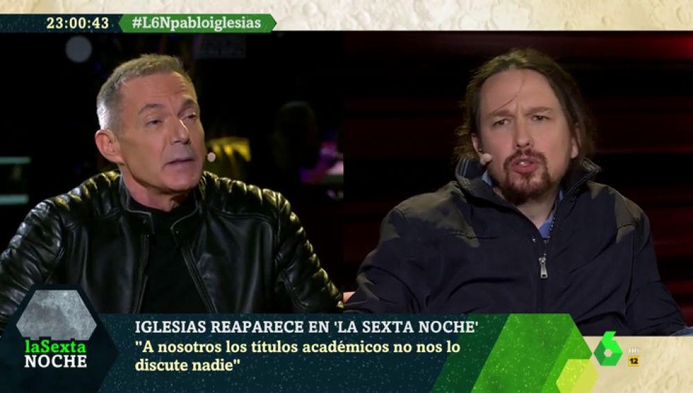 Pablo Iglesias respondiendo a Hilario Pino