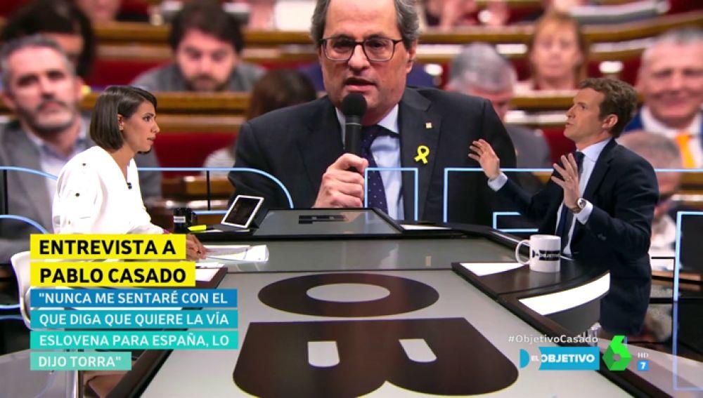 """Pablo Casado: """"Nunca me sentaría con un señor que ha dicho que quiere la vía eslovena, la Guerra Civil en España"""""""