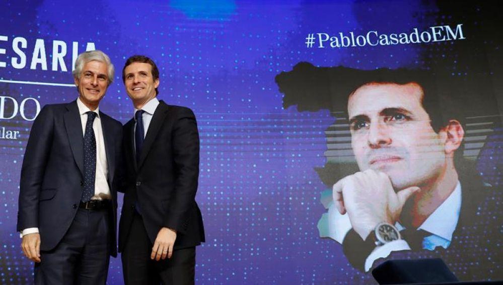 Pablo Casado y Adolfo Suárez Illana en un acto