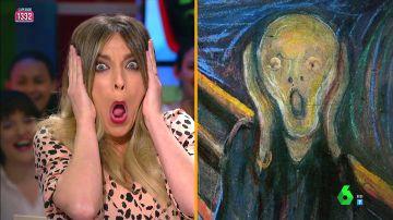 Anna Simon imita 'El Grito' de Munch