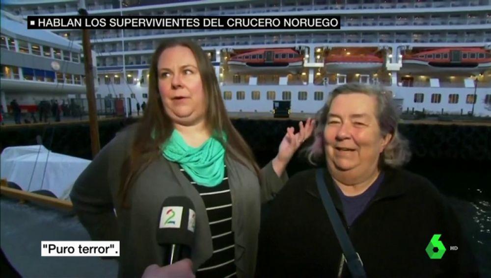 """Los supervivientes del crucero noruego narran el terror que vivieron: """"Pensé que me iba a morir junto a mi madre"""""""