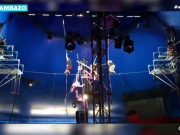 Varios equilibristas caen desde 10 metros de altura mientras practicaban uno de sus números en el circo