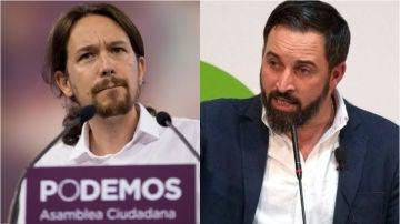 Pablo Iglesias y Santiago Abascal