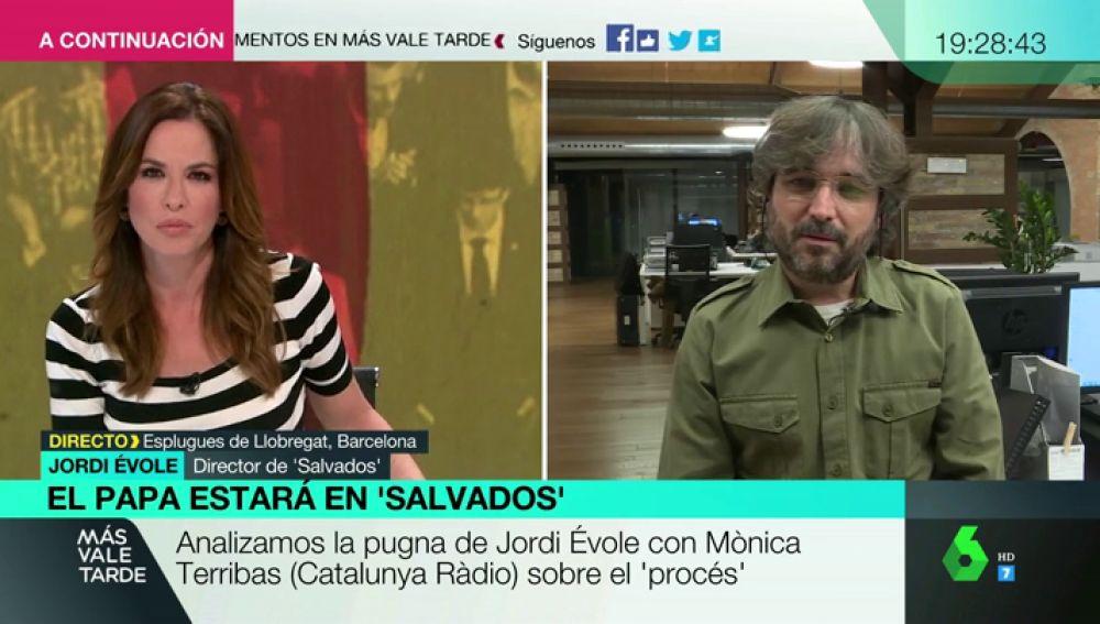 """Jordi Évole recuerda cómo vivió el rifirrafe con Mònica Terribas: """"Ese día estuve un poco tenso"""""""
