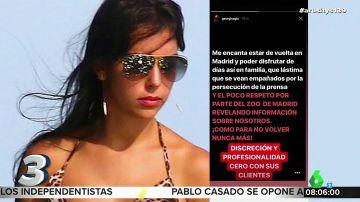 """Georgina Rodríguez carga contra los trabajadores del Zoo de Madrid: """"Es para no volver nunca más"""""""