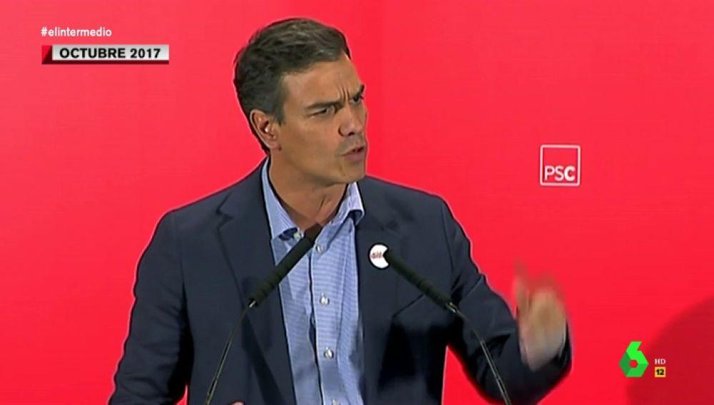 Así es cómo Pedro Sánchez defendía derogar la ley mordaza y prometía retirarla al llegar al Gobierno
