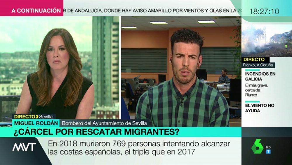 """Habla Miguel, el bombero que se enfrenta a 20 años de cárcel por rescatar migrantes: """"Lo volvería a hacer"""""""