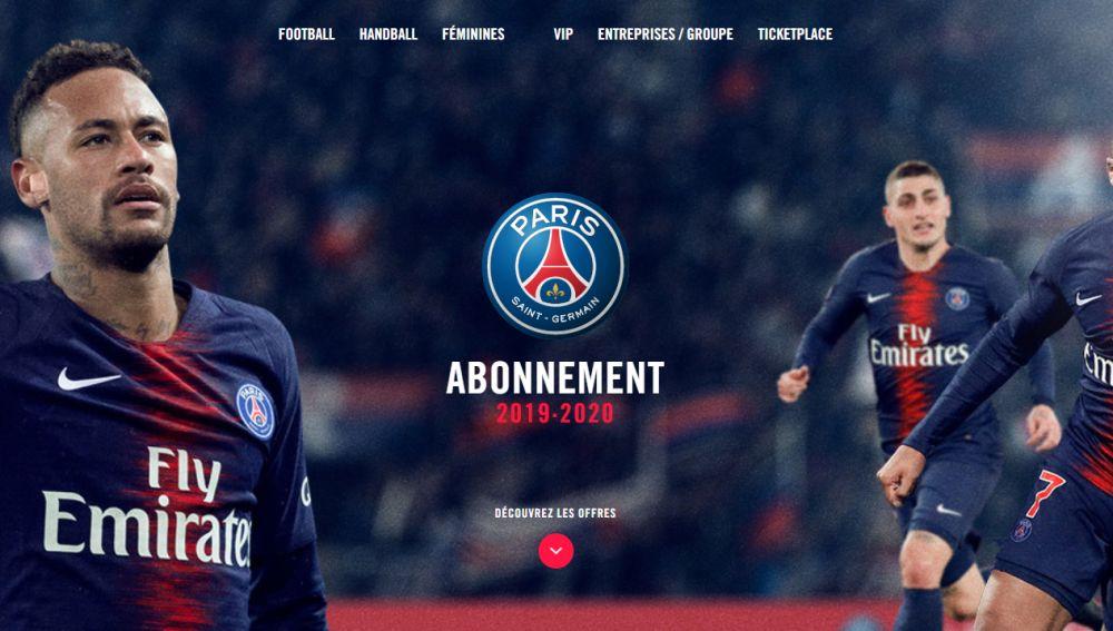 La imagen de la campaña de abonos para la temporada 2019-2020 del PSG