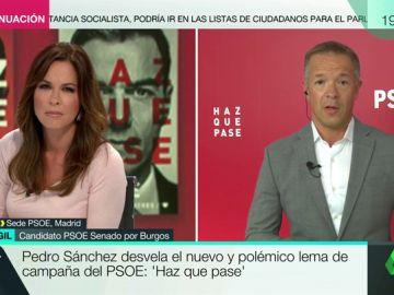 """Ander Gil (PSOE), sobre el lema de campaña: """"El PP se ha empeñado en ayudarnos y ahorrarnos dinero en comunicación"""""""