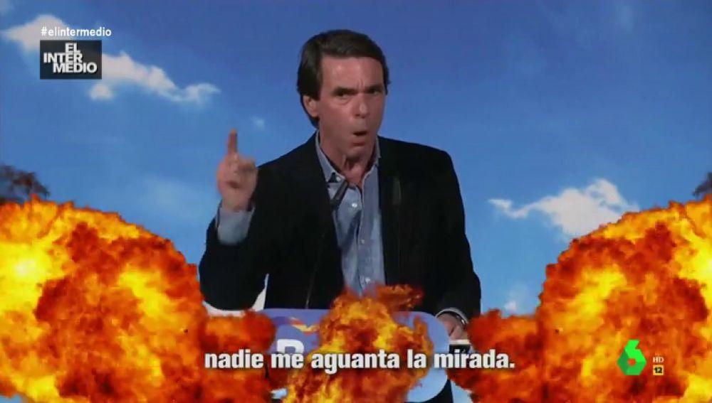 """La viral respuesta de Aznar a Abascal convertida en un hit musical: """"A mi nadie, a mi nadie, a mi nadie me aguanta la mirada"""""""