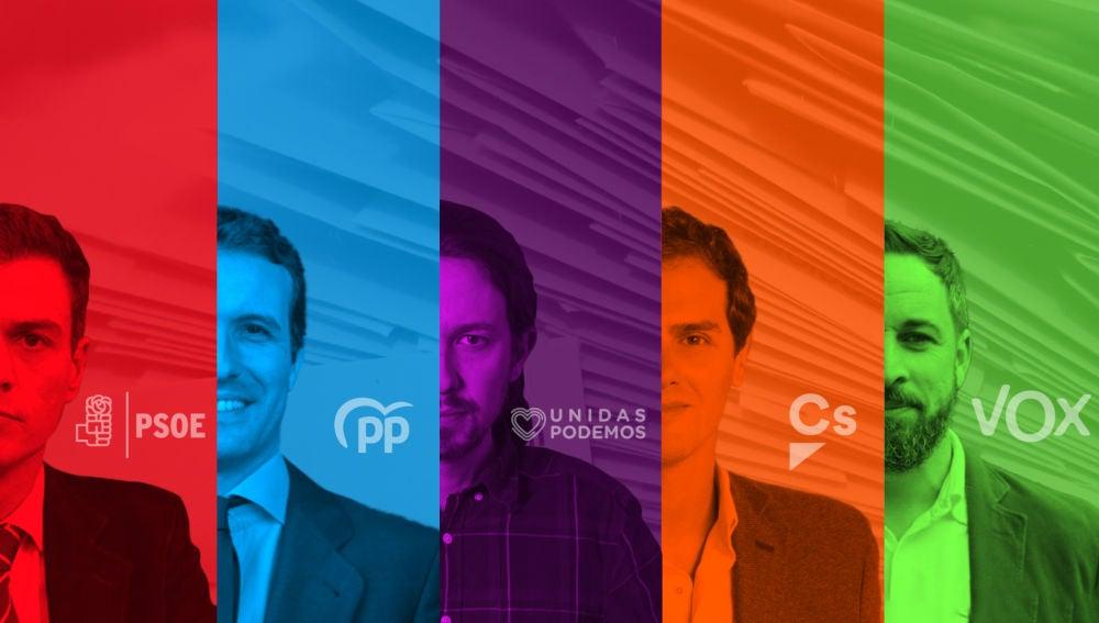 Principales candidatos a las elecciones generales del 28A