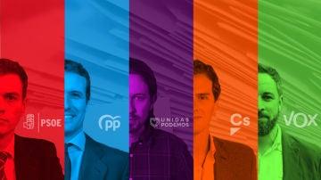 Líderes políticos de los principales partidos