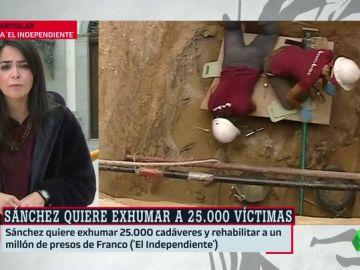 Sánchez quiere exhumar 25.000 cadáveres y rehabilitar a un millón de presos de Franco