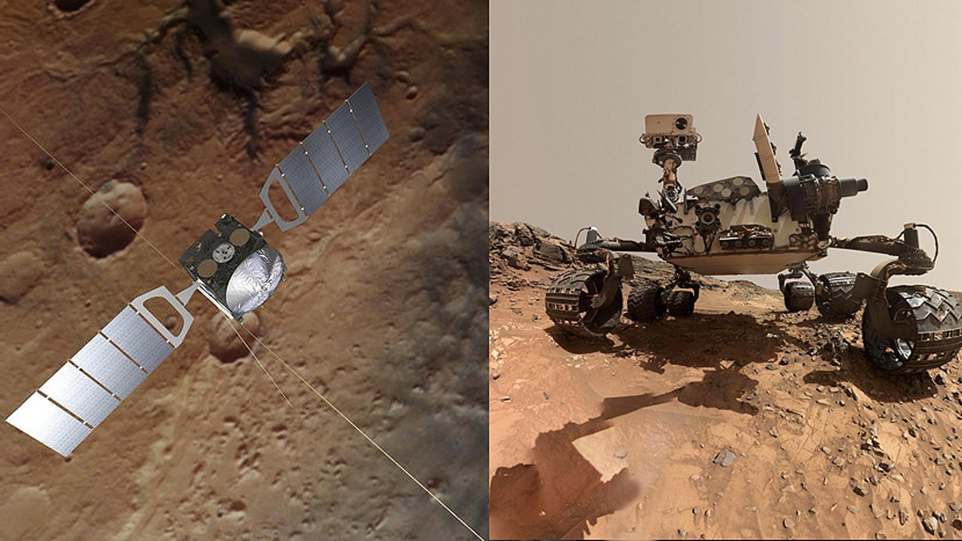 La sonda Mars Express confirma un pico de metano medido por Curiosity