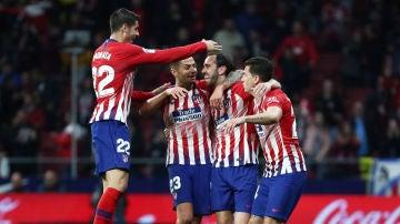 Godín celebra su gol al Villarreal
