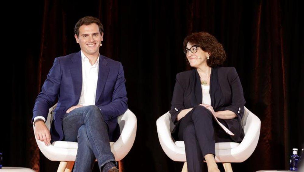 Albert Rivera y Soraya Rodríguez, de Ciudadanos.