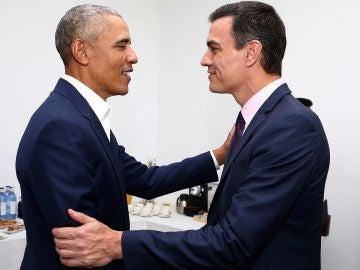 Pedro Sánchez y Barack Obama en Sevilla.
